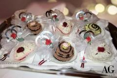 Bomboniere dolci delizie fantasiose per anniversario 25 anni di matrimonio eseguite all'uncinetto