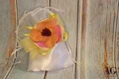 Sacchettino con fiore in gomma EVA