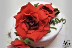 Rosa rossa  fatta a mano