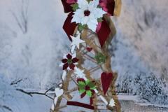 Alberello con decorazioni in feltro