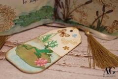 Segnalibro coordinato al libro realizzato e dipinto a mano
